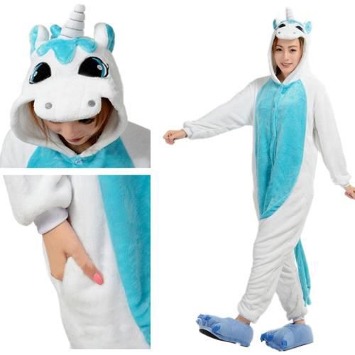 lememogo superbe kigurumi pyjama licorne bleu achat vente d guisement panoplie cdiscount. Black Bedroom Furniture Sets. Home Design Ideas