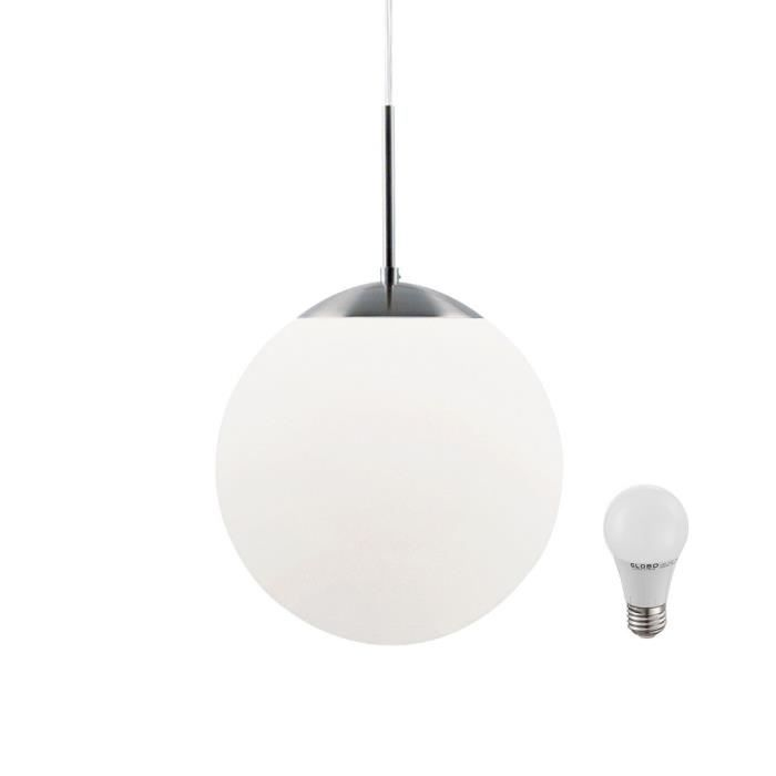 luminaires suspension boule blanc achat vente luminaires suspension boule blanc pas cher. Black Bedroom Furniture Sets. Home Design Ideas