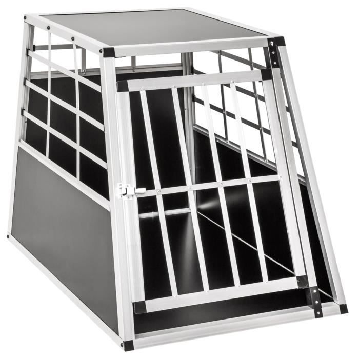 cage caisse box de transport pour chien en aluminium 65 cm x 90 cm x 69 50 cm tectake achat. Black Bedroom Furniture Sets. Home Design Ideas
