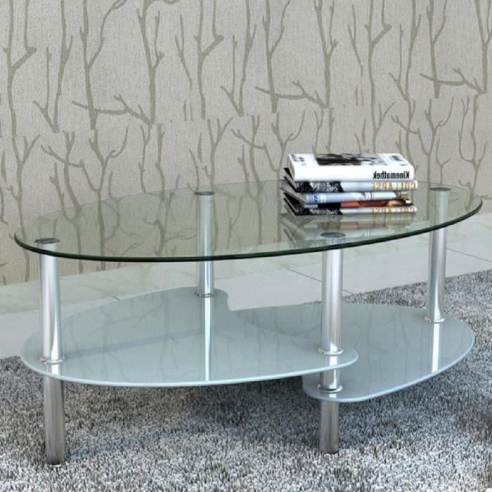Table Basse Contemporaine Vidaxl Verre Trempe Et Cadre En Metal 90 X 45 X 43 Cm Achat Vente Table Basse Table De Salon Table Bass Cdiscount