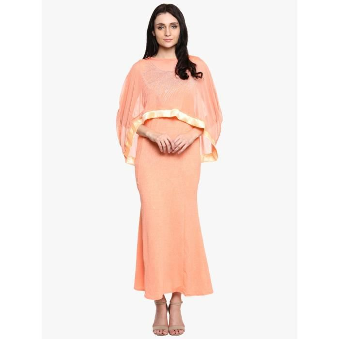 Womens Polynet Orange Casual Dress For1RRDXI Taille-36