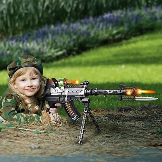 L/'Opération Tempête Force Light Up Mitrailleuse Militaire Jouet Fusil Kids