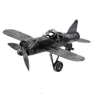 RÉSINE CRÉATIVE Modèle d'avion vintage biplan avion en fer forgé p