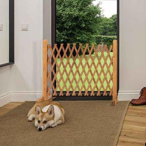 ENCLOS - CHENIL Barriere bois extensible 30 à 150 cm