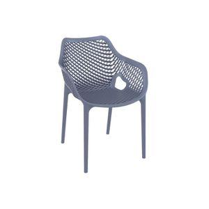 Gris de XL Chaise design foncé AIR jardin Achat Vente TF1cJulK35