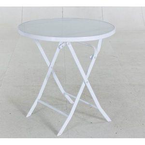 Table bistro pliante blanche avec plateau - Achat / Vente ...