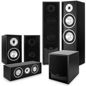 Ensemble home cinéma auna Black-Line 5.1 Système audio HiFi Home cinema