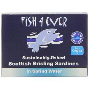 PRODUIT DE SARDINE Fish4Ever sprats Sardines à l'eau de source 105g