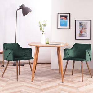 CHAISE HOMY CASA Lot de 2 chaises de salle à manger en ve