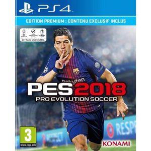 JEU PS4 PES 2018 Premium D1 Edition PS4 + 2 boutons thumst