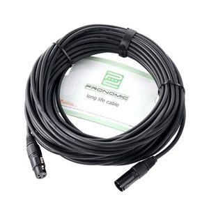 CÂBLE TV - VIDÉO - SON Pronomic Stage XFXM-20 Câble de micro XLR 20m noir