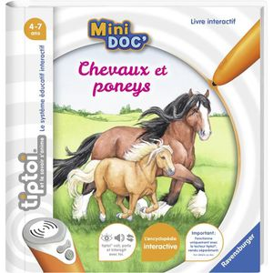 JEU D'APPRENTISSAGE RAVENSBURGER -  Chevaux et poneys Tiptoi Mini Doc'