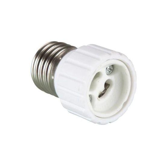 Lot de 2 adaptateurs douille E27 GU10 ampoule culot