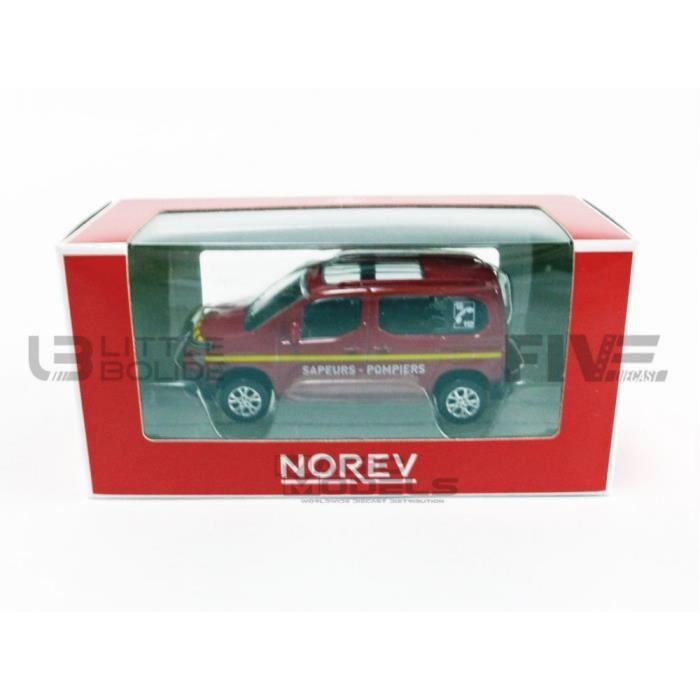 Voiture Miniature de Collection - NOREV 1/64 - CITROEN Berlingo Pompier - Red - 319151-BERPOMP