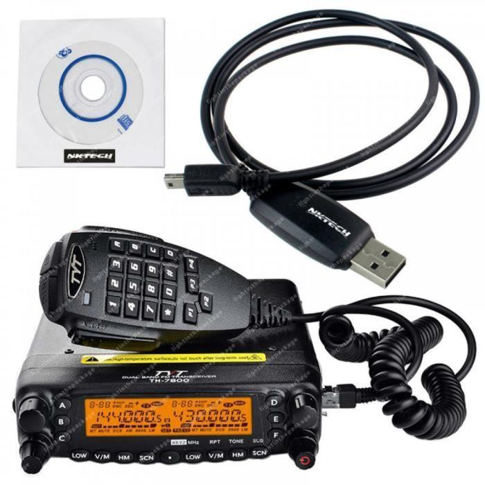 Tyt Th-7800 Bibande Vhf Uhf Voiture Camion Mobile Radio Emetteur-Récepteur & Câble Lb0030