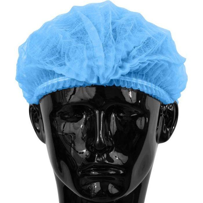 100 x Simply Direct Charlottes Bleu/Bouchons à Clip/Filets Cheveux Tête Couvertures Dans un Sac Refermable.