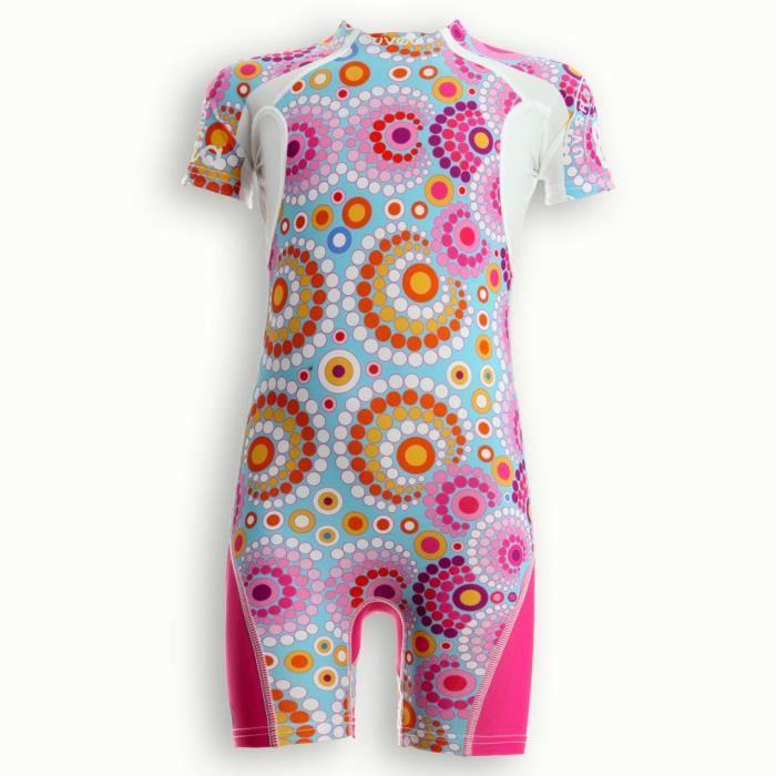 UVEA Combinaison maillot de bain kidsguard anti UV 80+ Manly - Taille 2/4 ans - Couleur galet