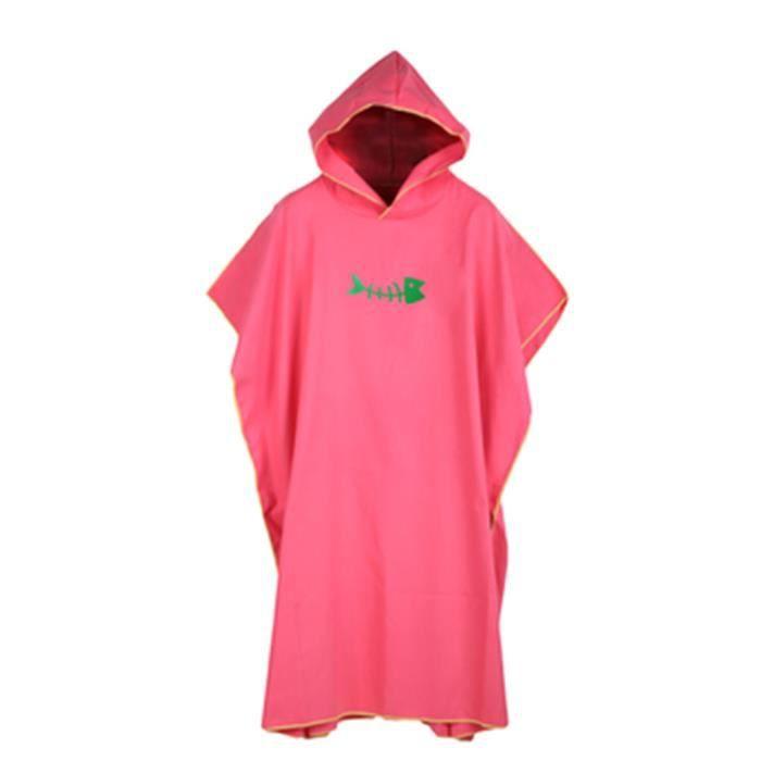 Crème solaire vacances Robe combinaison changeante surf Poncho Robe douce avec capuche cadeau adulte - Modèle: peach - TEYYMJA03959