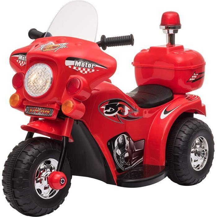 ✅ DESIGN : scooter moto electrique policier pour enfant rouge ✅ SÉCURITÉ : développe la capacité d'apprentissage de votre enfant qui