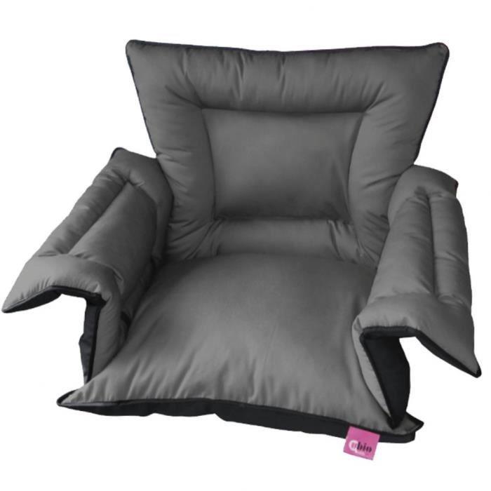 Couvre-siège rembourré pour fauteuil roulant Saniluxe T/L