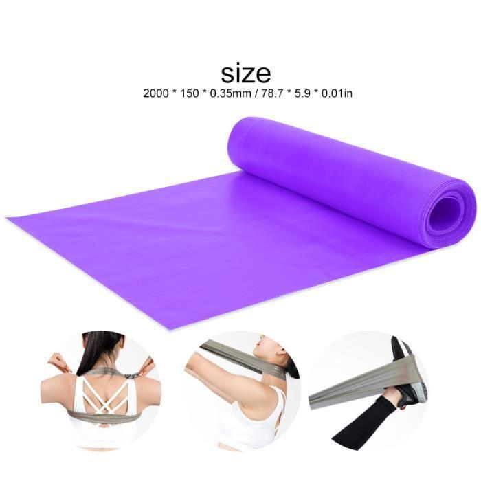 Garosa ceinture de yoga Bande de résistance de sangle de yoga élastique de 2 m, accessoire de ceinture d'entraînement d'exercice