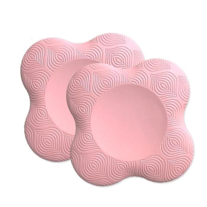 Tapis de sol,Genouillère de Yoga pour les exercices de Yoga et de Pilates, coussin pour les genoux, les coudes - Type Pink - 2 PCS