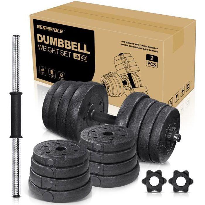 kit Haltères 30kg réglables pour musculation