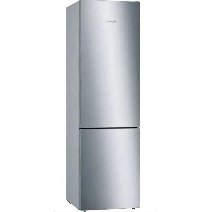 bosch - réfrigérateur combiné 60cm 337l a+++ brassé inox - kge39alca