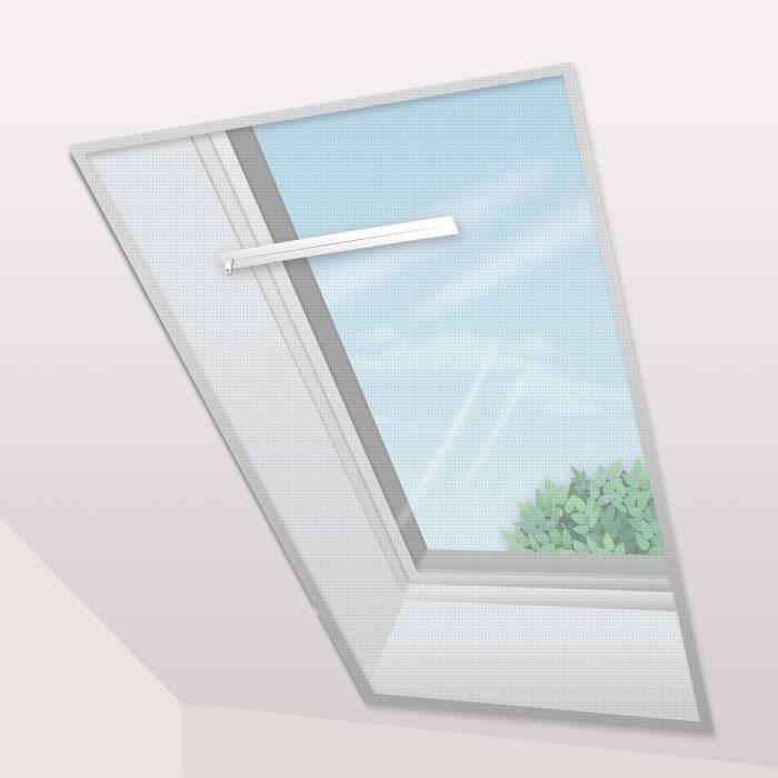 Voile Moustiquaire Fenêtre de Toit 150x180 cm Blanc (lot de 2 pc)