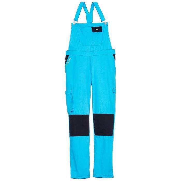 Fashion Sécurité FASHION SECURITE - PEP's - Salopette de Travail - Femme - Bleu (Turquoise/noir) - Taille: S (36/38) - FAS 18 826601