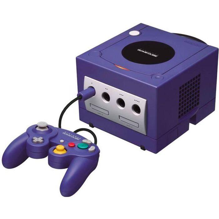 Console Nintendo Gamecube Violet + 1 manette + 1 carte mémoire