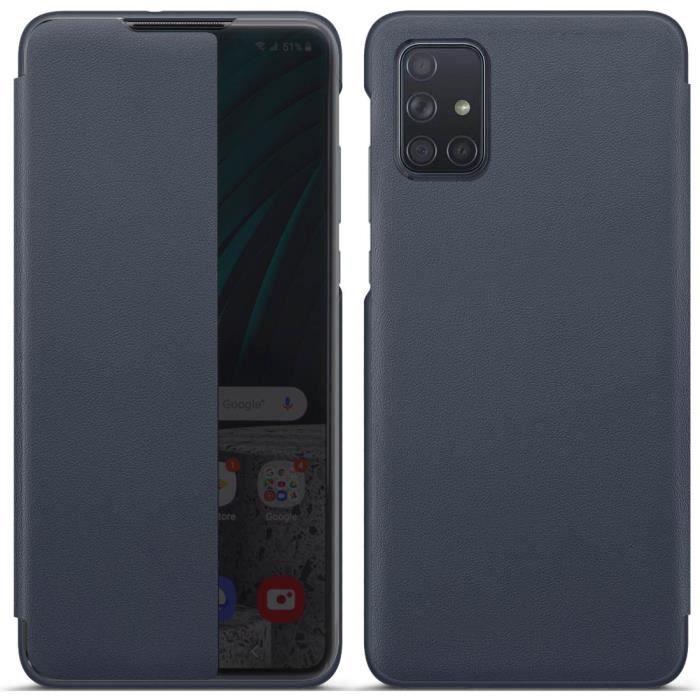 Coque Galaxy A51, Avec Fonction Sommeil Intelligent/Réveillez Automatiquement,Bumper Étui Housse pour Samsung Galaxy A51 (Bleu)