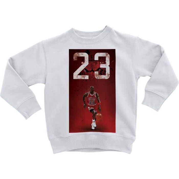 Sweatshirt Enfant Michael Jordan 23 Chicago Bulls Basket Superstar GOT