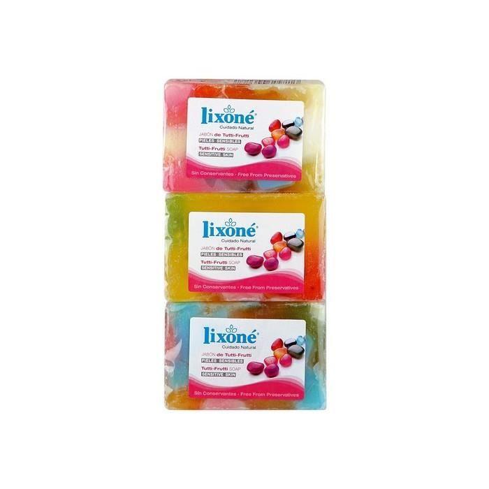 Savons et gels admirable savon en glycerine naturelle tutti-frutti lixone (3 uds)