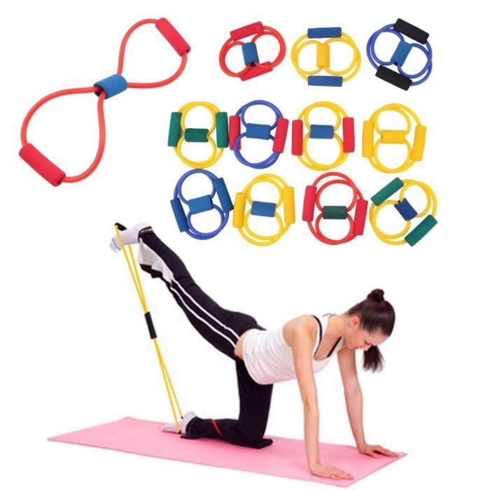 4 PCS Bande élastique Yoga résistance Yoga ABS Exercice Stretch Fitness Tube Workout Bands intérieur sport