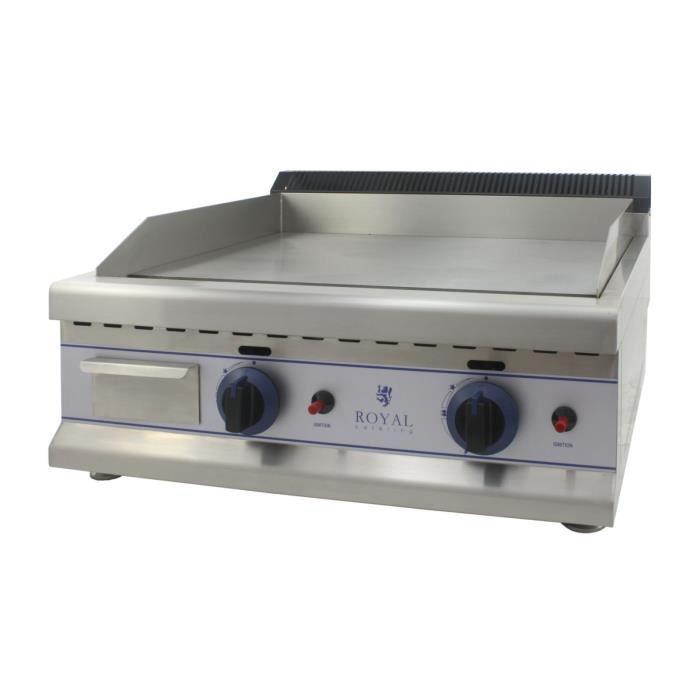 Plancha Snacker Inox Plaque Cuisson Fonte Grill Neuve Barbecue Gaz Propane 65cm Royal Catering RCGL 65L30H