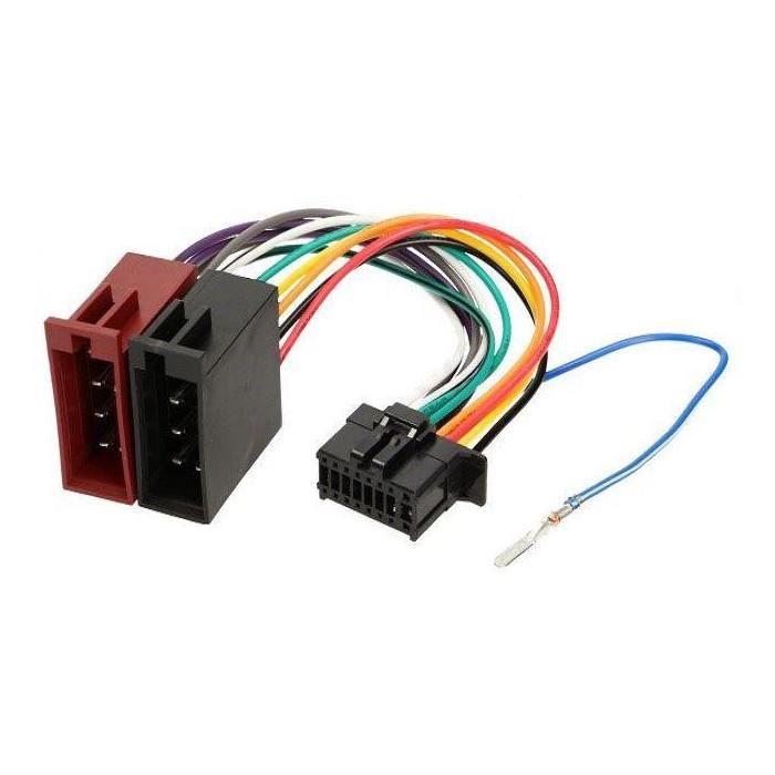 Cable adaptateur ISO autoradio Pioneer FH-X500UI FH-X720BT FH-X730BT AV-8100NEX