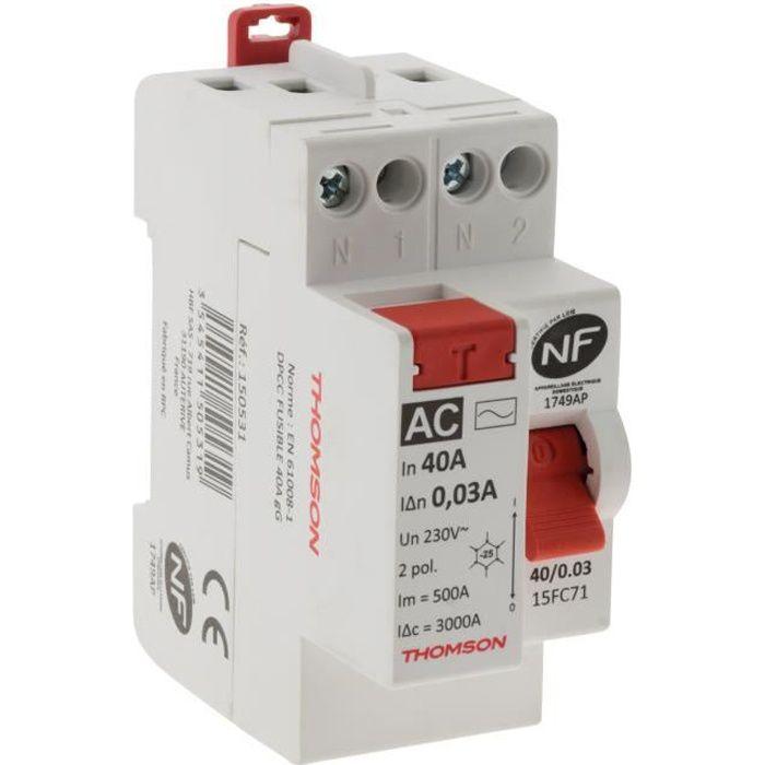 THOMSON Interrupteur différentiel à vis - 40A type AC NF