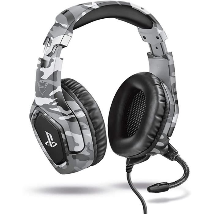 TRUST - Casque Gamer GXT488 Forze Gaming Headset - Gris Camouflage