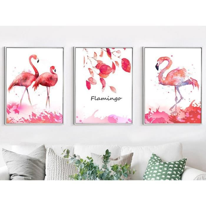 cadre flamant rose achat vente pas cher. Black Bedroom Furniture Sets. Home Design Ideas