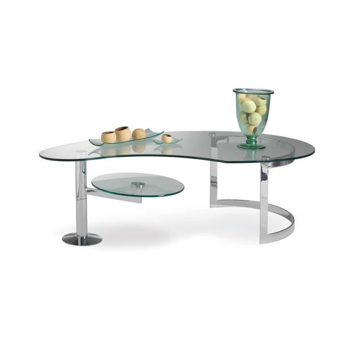Table basse manhattan verre achat vente table basse for Verre pour table basse