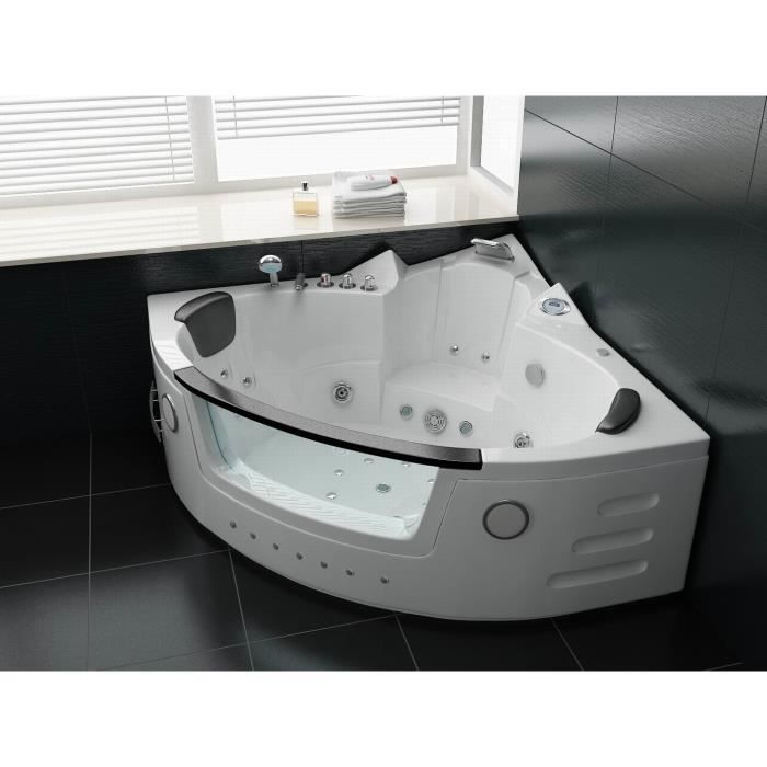 Baignoire baln o d 39 angle 30jets 152 152cm radio achat vente baignoire - Baignoire balneo occasion ...