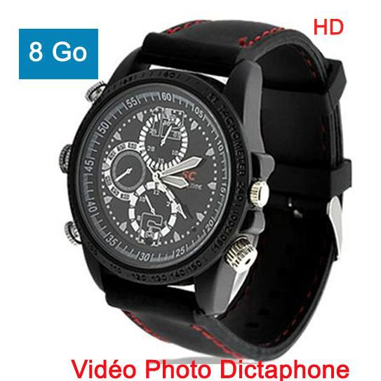 montre espion hd 8go photo vid o dictaphone spo achat. Black Bedroom Furniture Sets. Home Design Ideas