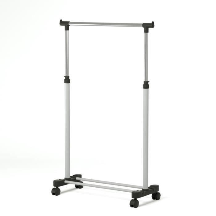 Poldi portant en tube d 39 acier r glable achat vente penderie mobile po - Tringle vetement ikea ...