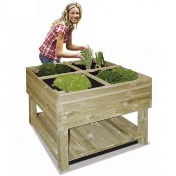 jardin potager sur pieds en bois trait 100 x 1 achat. Black Bedroom Furniture Sets. Home Design Ideas