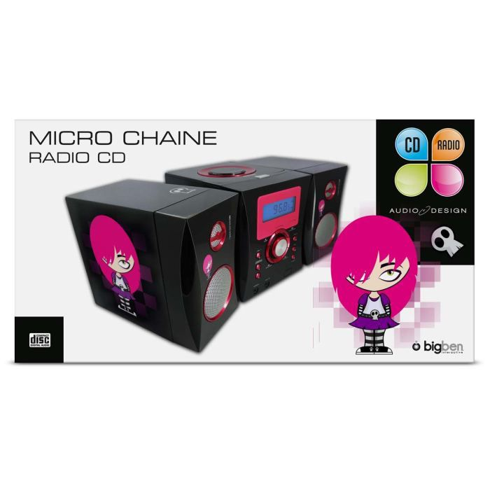 micro chaine radio cd noire adolescente chaine hi fi. Black Bedroom Furniture Sets. Home Design Ideas
