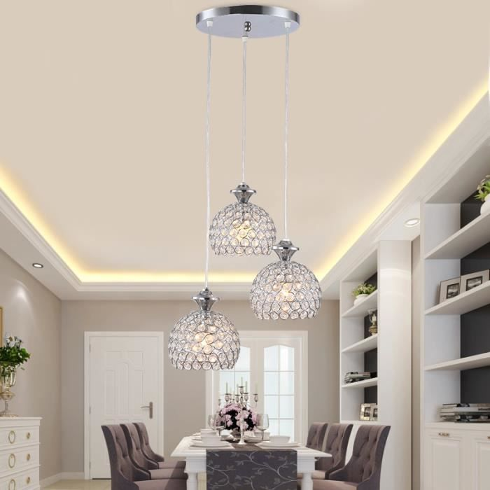 Suspension luminaire salon chrome achat vente for Suspension luminaire salon