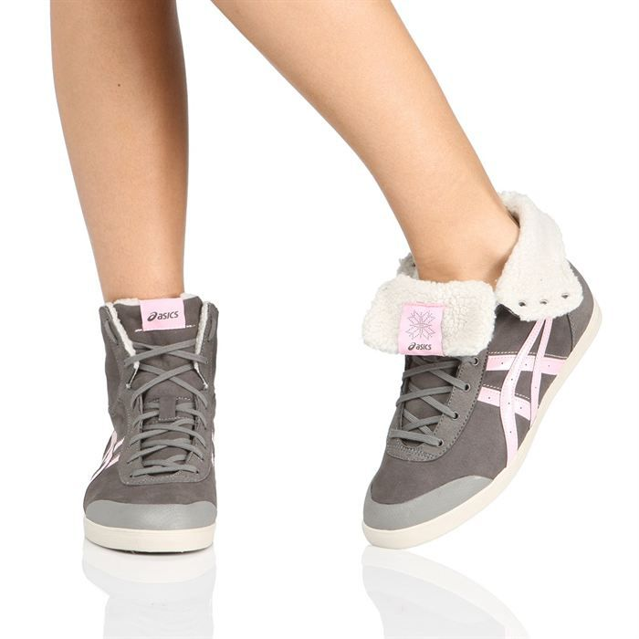 asics baskets kaeli hi femme femme gris fonc et rose achat vente asics kaeli hi femme femme. Black Bedroom Furniture Sets. Home Design Ideas