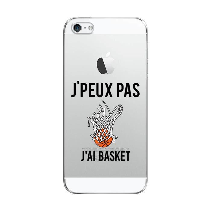Coque iPhone 5C J Ai Basket, je peux pas, Coque fabriquée en ...