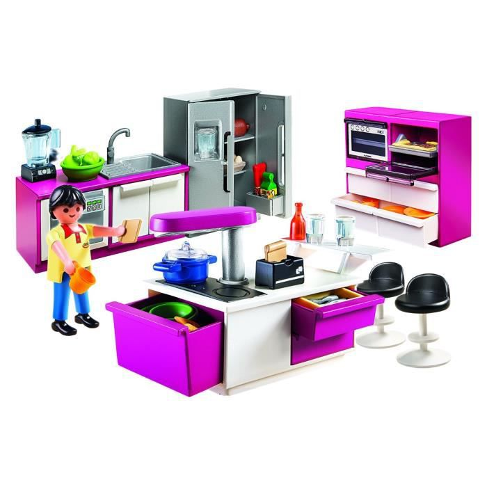 playmobil cuisine avec ilot achat vente robot animal anim cdiscount. Black Bedroom Furniture Sets. Home Design Ideas